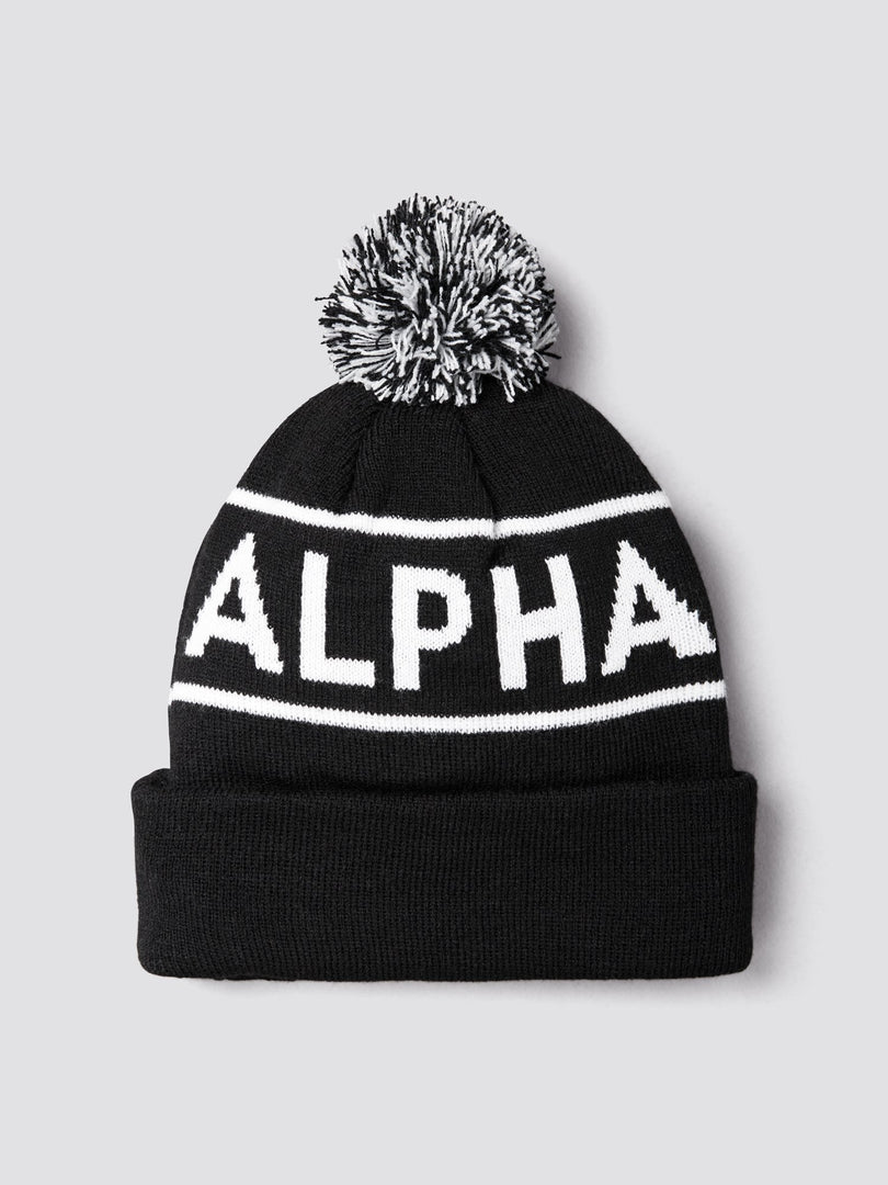 BLOCK BOBBLE BEANIE ACCESSORY Alpha Industries, Inc. BLACK O/S