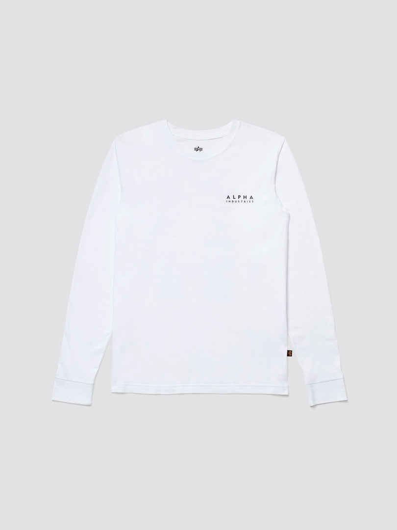 BLOOD CHIT LONG SLEEVE TEE TOP Alpha Industries WHITE 2XL