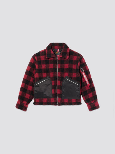 CROPPED SHERPA UTILITY JACKET W OUTERWEAR Alpha Industries, Inc.