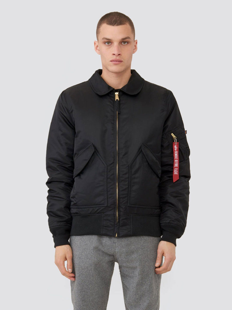 CWU 45/P SLIM FIT BOMBER JACKET SALE Alpha Industries BLACK 2XL