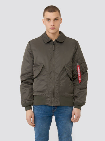 CWU 45/P SLIM FIT BOMBER JACKET SALE Alpha Industries REPLICA GREY 2XL