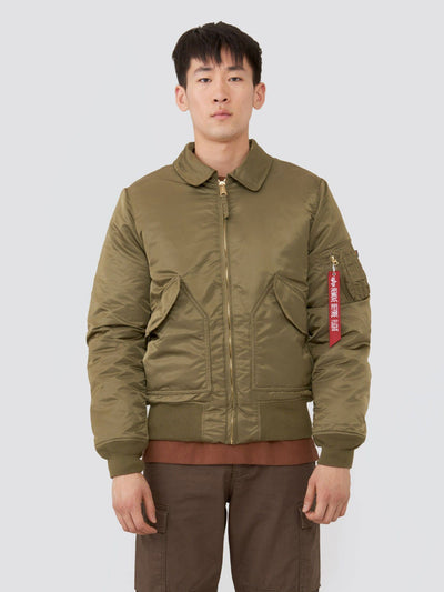CWU 45/P SLIM FIT BOMBER JACKET SALE Alpha Industries VINTAGE OLIVE XXS