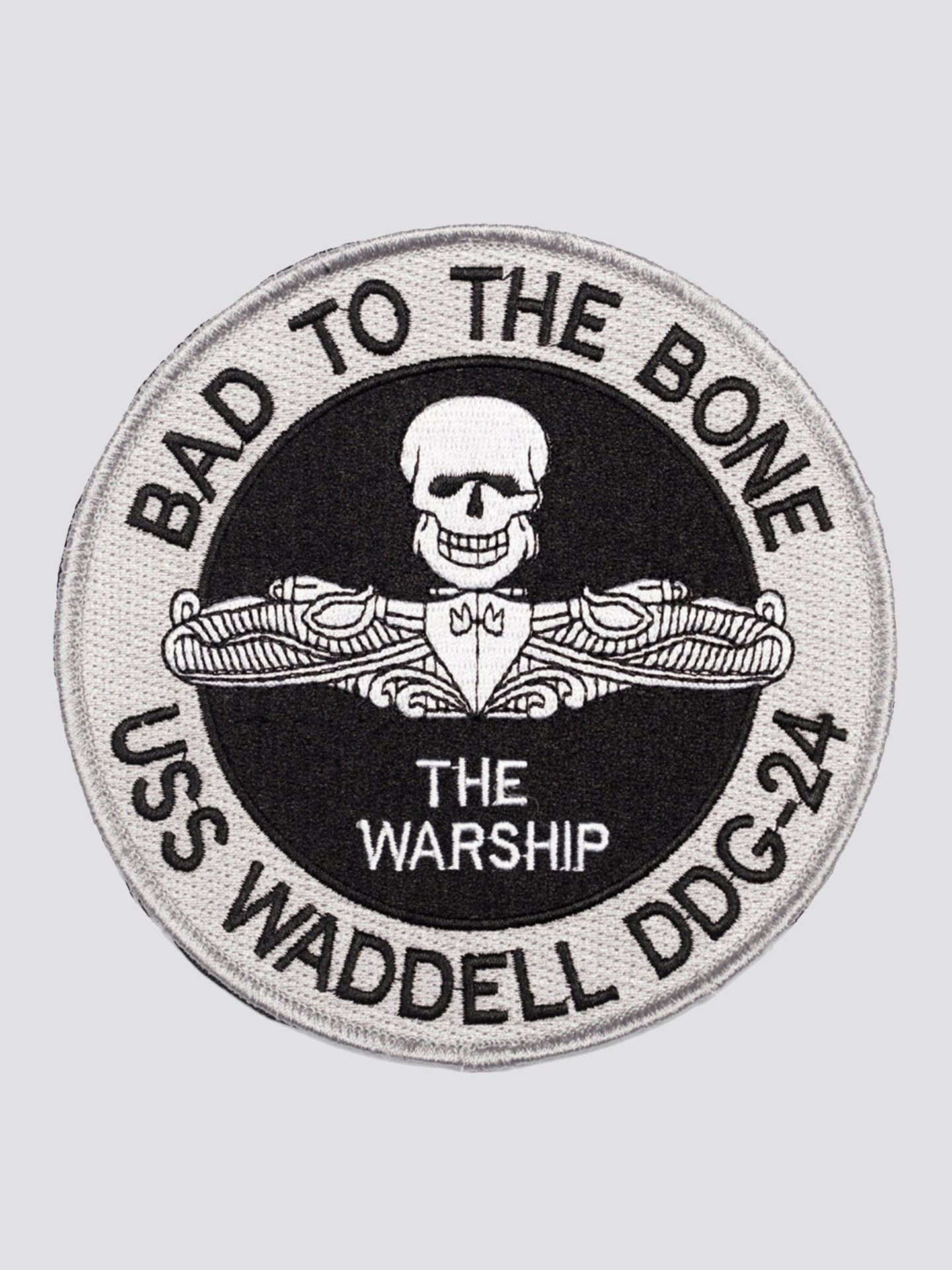DDG-24 USS WADDELL MISSILE DESTROY BAD ACCESSORY Alpha Industries BLACK 0