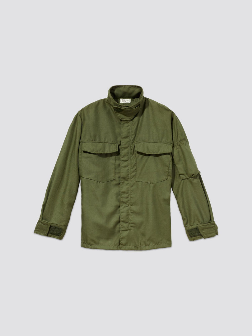 DEADSTOCK '71 U.S. ARMED FORCES HELI CREW JACKET RESUPPLY Alpha Industries, Inc. M-65 OLIVE SS