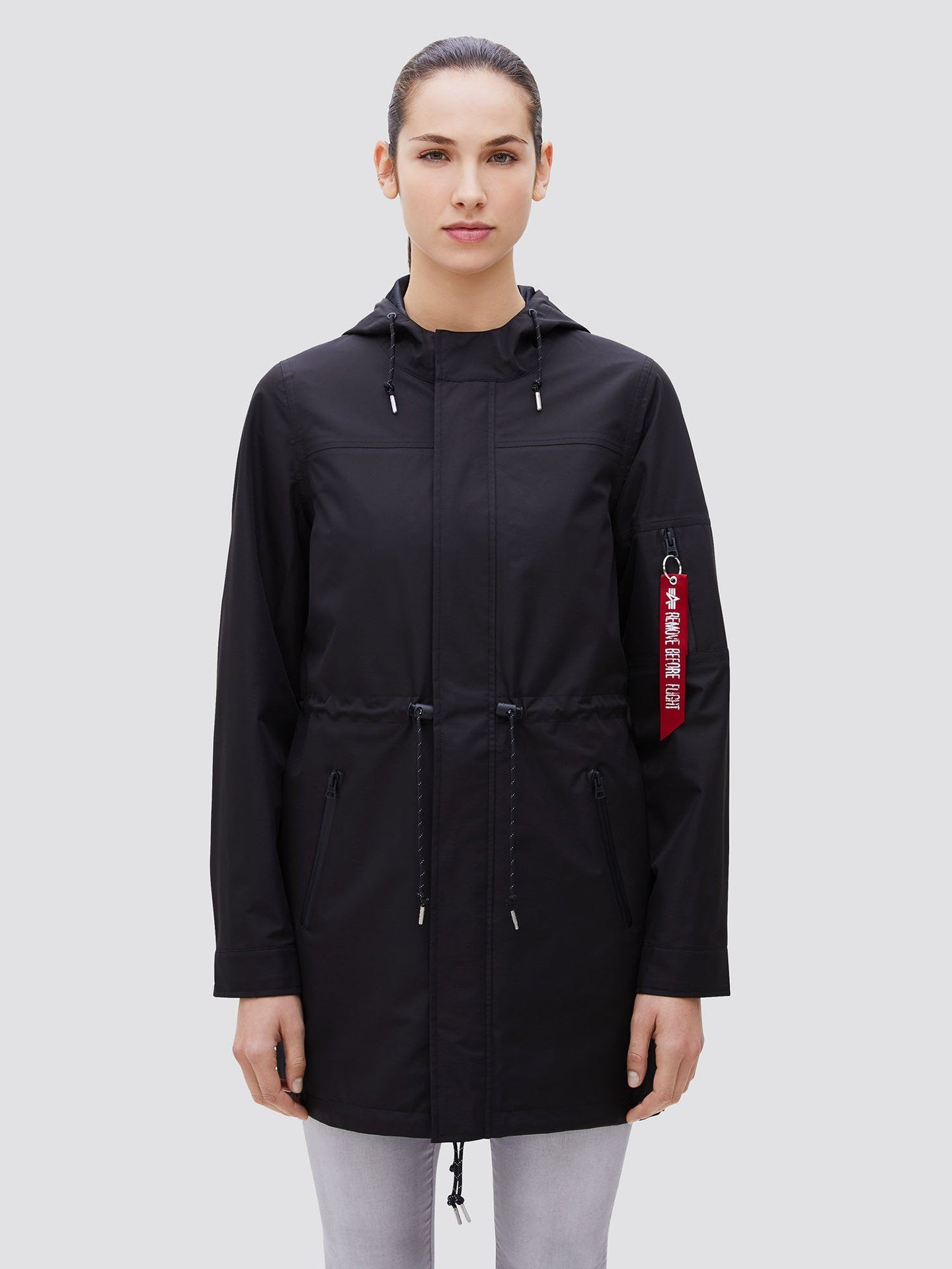 DELUGE RIPSTOP FISHTAIL W SALE Alpha Industries BLACK L