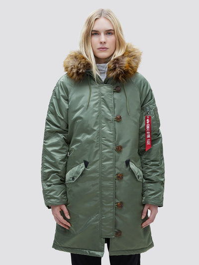ELYSE OUTERWEAR Alpha Industries SAGE GREEN L
