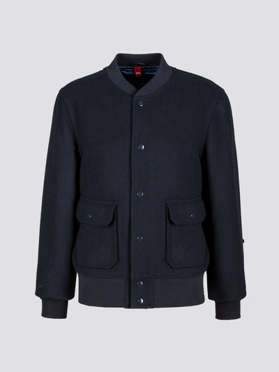 EXCLUSIVE A-1 WOOL BOMBER JACKET OUTERWEAR Alpha Industries NAVY 3XL