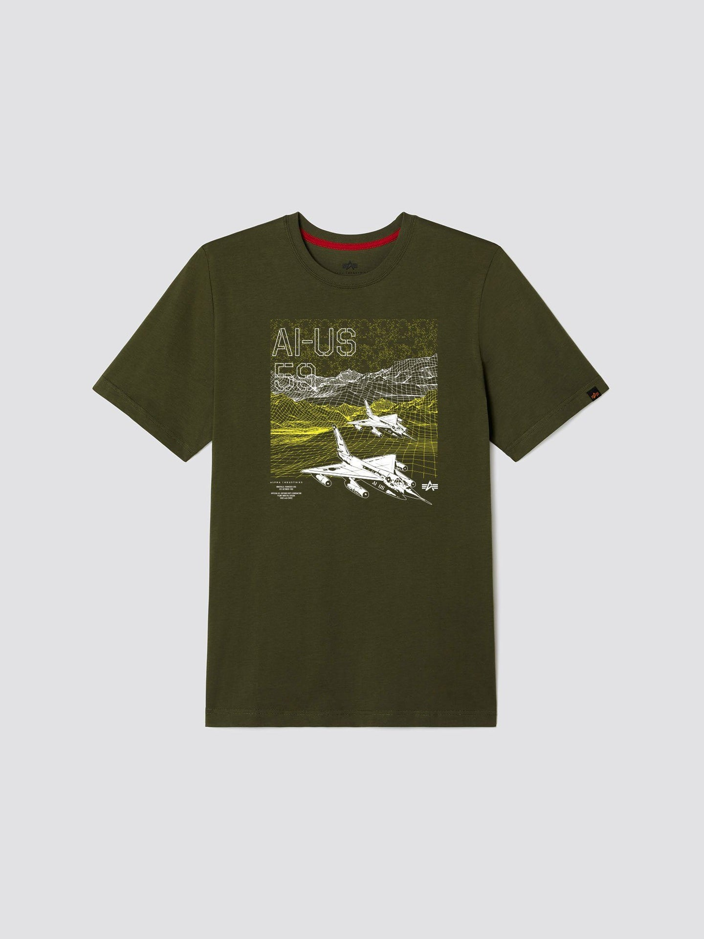 EXCLUSIVE AI-US 59 TEE TOP Alpha Industries, Inc. OLIVE 2XL