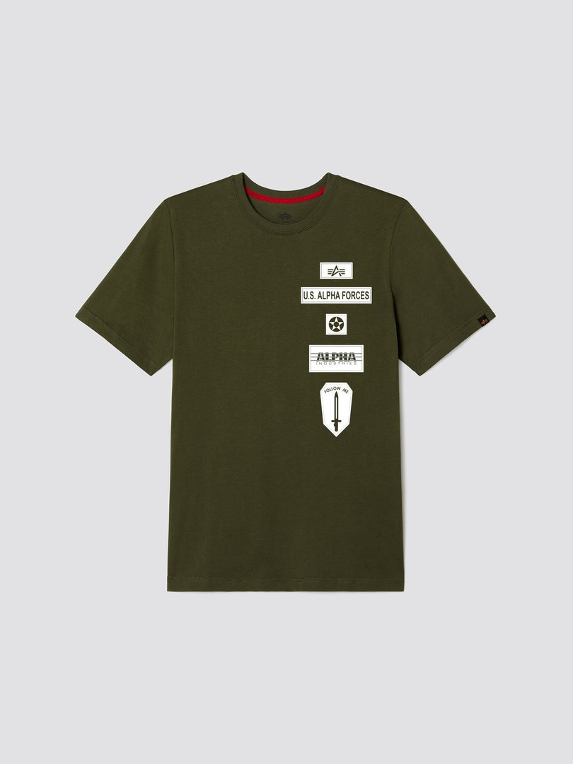 EXCLUSIVE ALPHA FORCES TEE TOP Alpha Industries, Inc. OLIVE 2XL