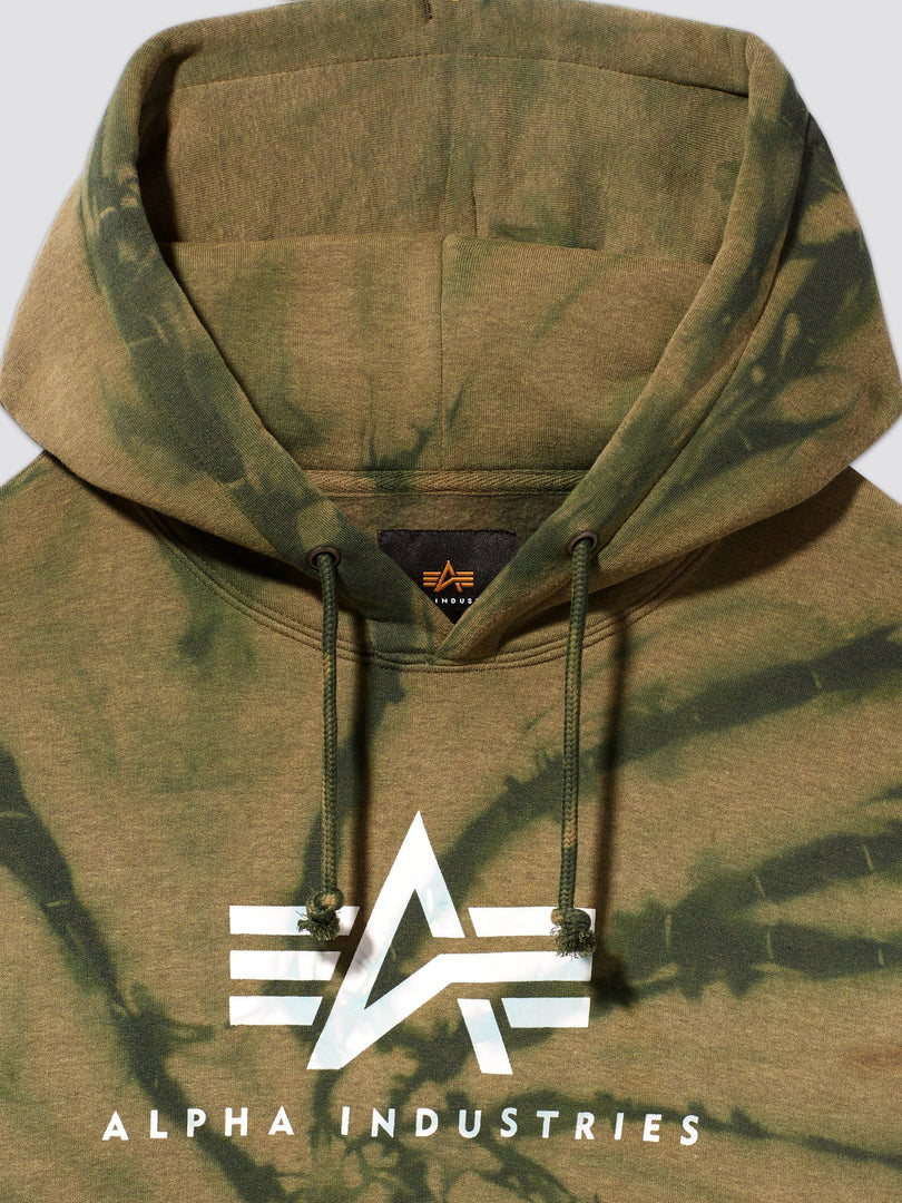 EXCLUSIVE BASIC LOGO DYED HOODIE TOP Alpha Industries, Inc.