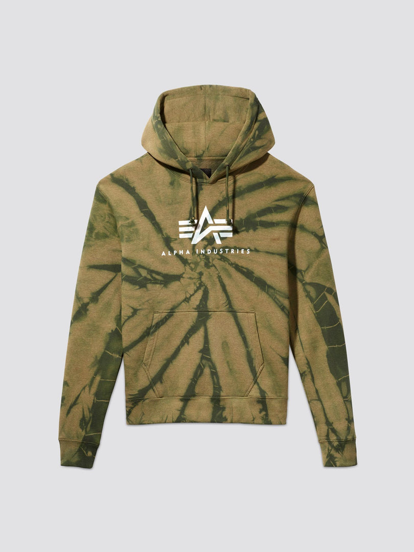 EXCLUSIVE BASIC LOGO DYED HOODIE TOP Alpha Industries, Inc. OLIVE 2XL