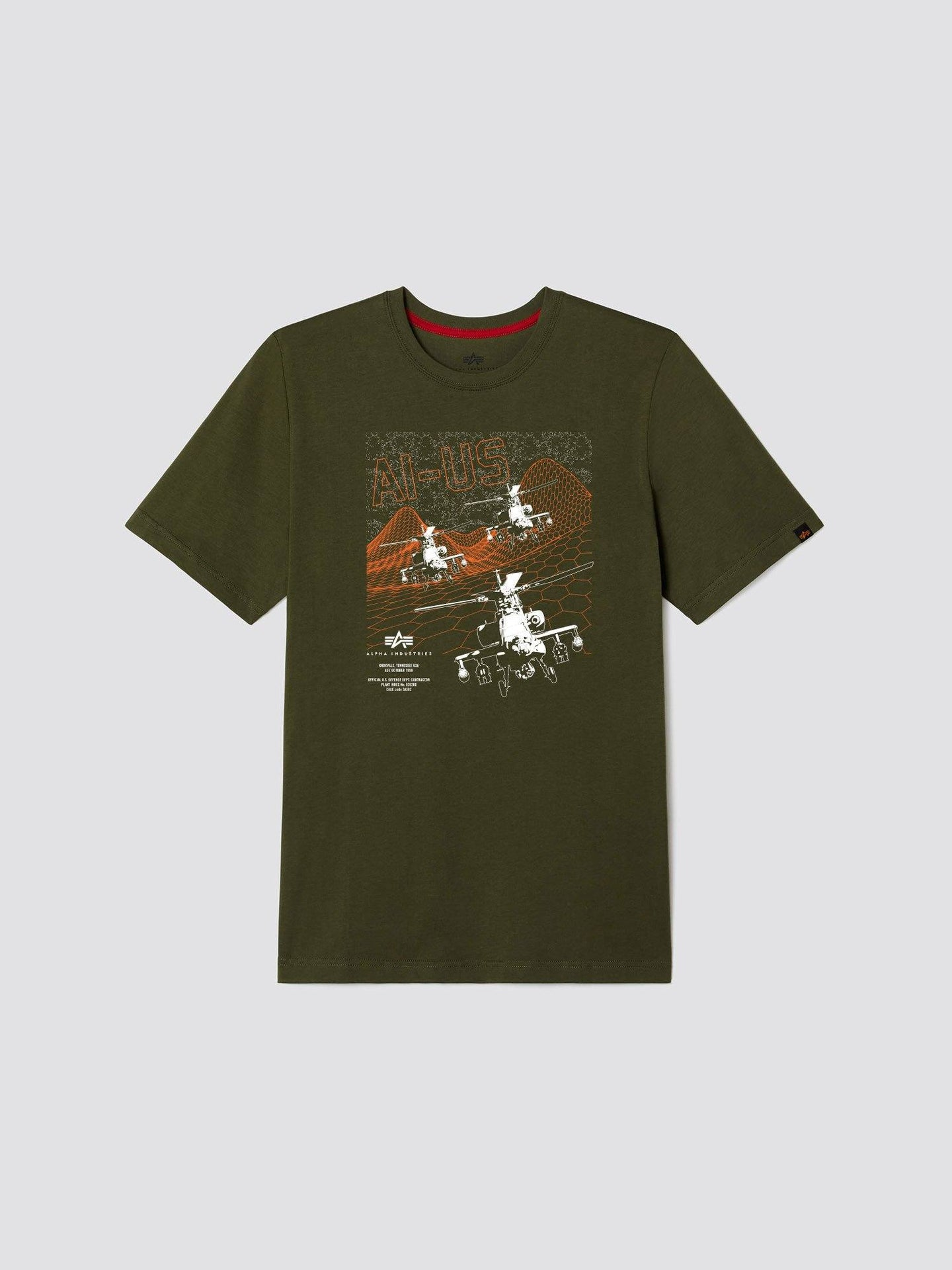 EXCLUSIVE BLACKHAWK TEE TOP Alpha Industries, Inc. OLIVE 2XL