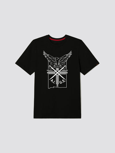 EXCLUSIVE EAGLE CREST TEE TOP Alpha Industries, Inc. BLACK 2XL