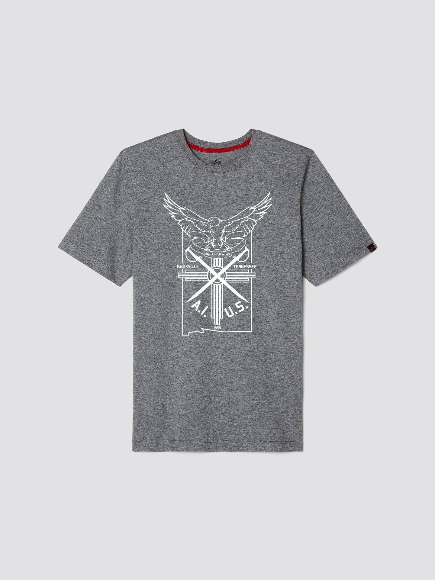 EXCLUSIVE EAGLE CREST TEE TOP Alpha Industries, Inc. MEDIUM CHARCOAL HEATHER 2XL