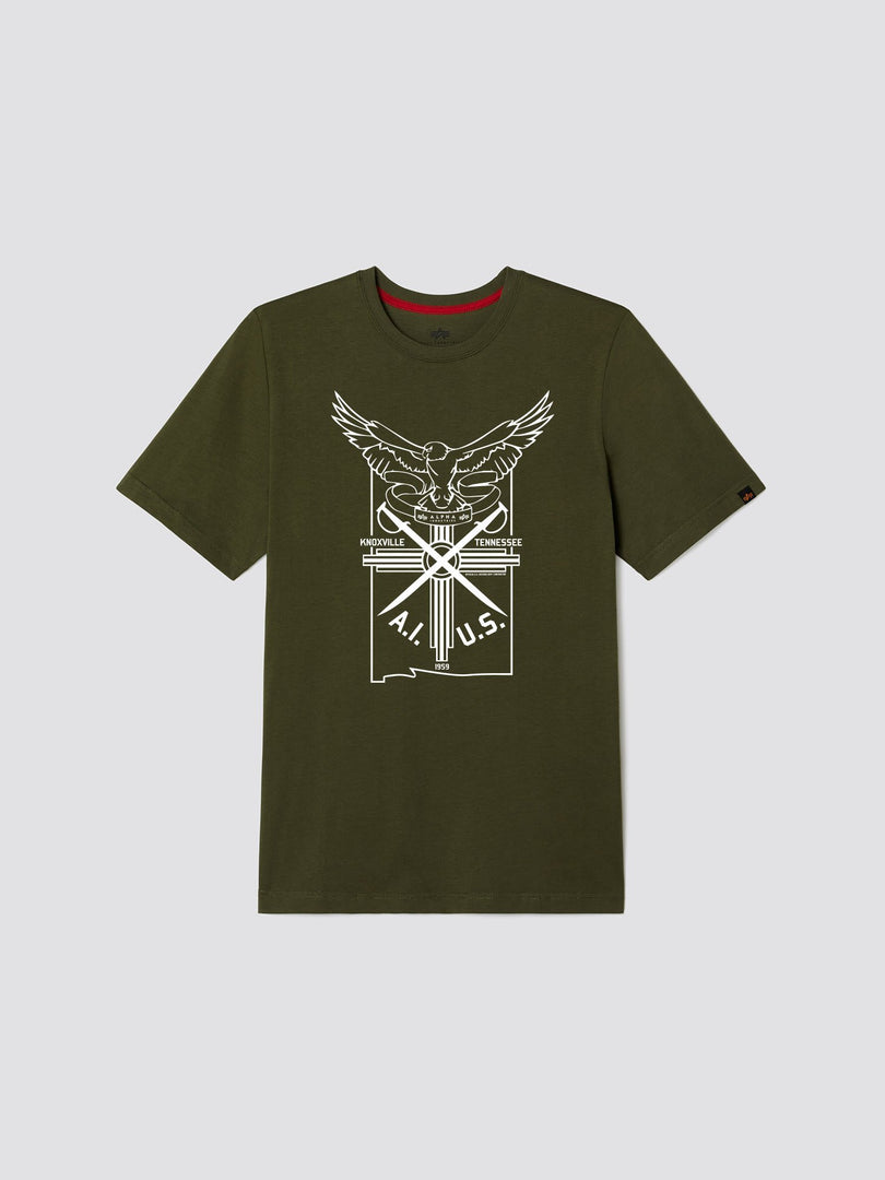 EXCLUSIVE EAGLE CREST TEE TOP Alpha Industries, Inc. OLIVE 2XL