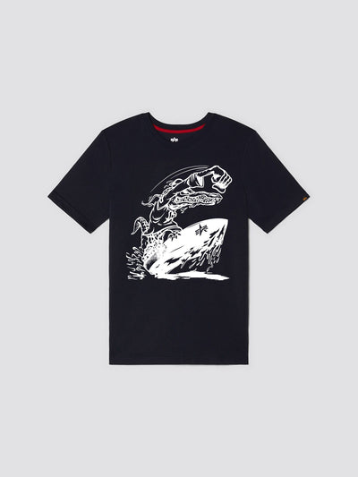 EXCLUSIVE GATOR SAILOR TEE TOP Alpha Industries, Inc. REPLICA BLUE 2XL