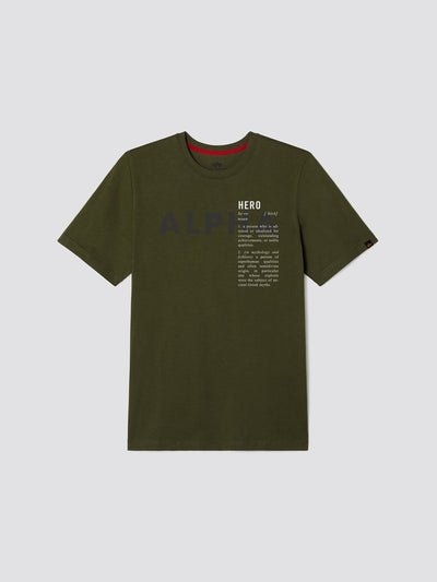 EXCLUSIVE HERO TEE TOP Alpha Industries, Inc. DEEP OLIVE 2XL