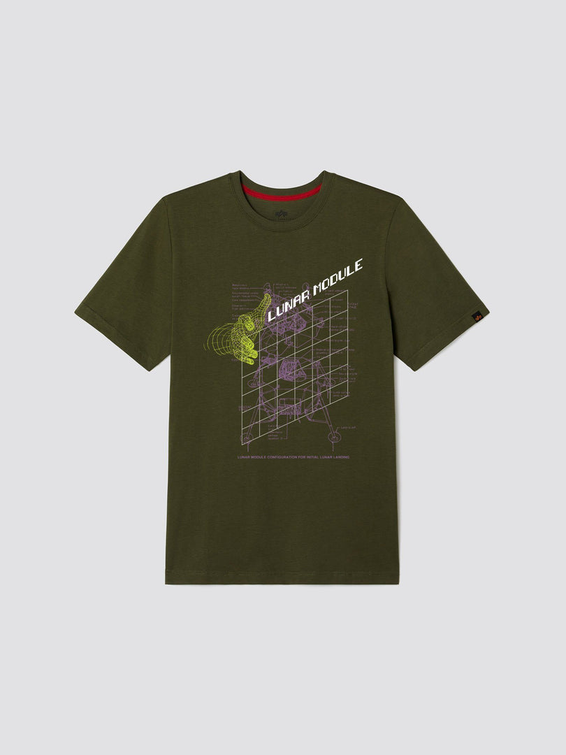 EXCLUSIVE NASA LUNAR MODULE TEE TOP Alpha Industries, Inc. OLIVE 2XL