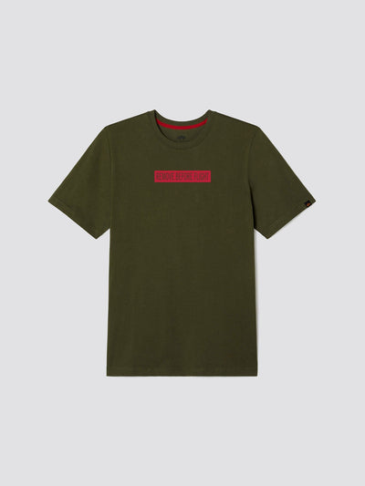 EXCLUSIVE REFELCTIVE RBF BOX TEE TOP Alpha Industries, Inc. OLIVE 2XL