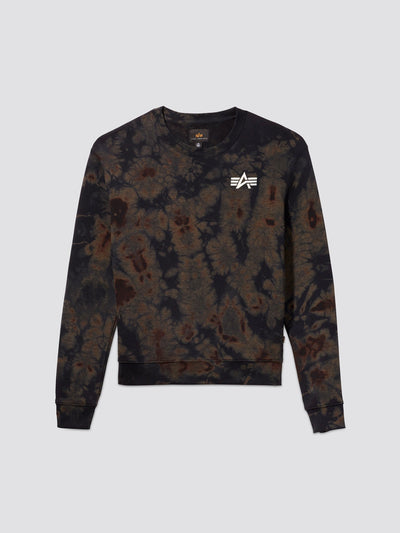 EXCLUSIVE SMALL LOGO DYED CREWNECK TOP Alpha Industries, Inc. BLACK 2XL