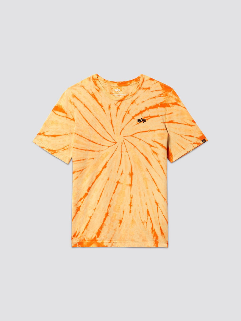 EXCLUSIVE SMALL LOGO DYED TEE TOP Alpha Industries, Inc. EMERGENCY ORANGE 2XL