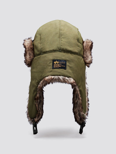 FAUX FUR PILOT CAP ACCESSORY Alpha Industries, Inc.