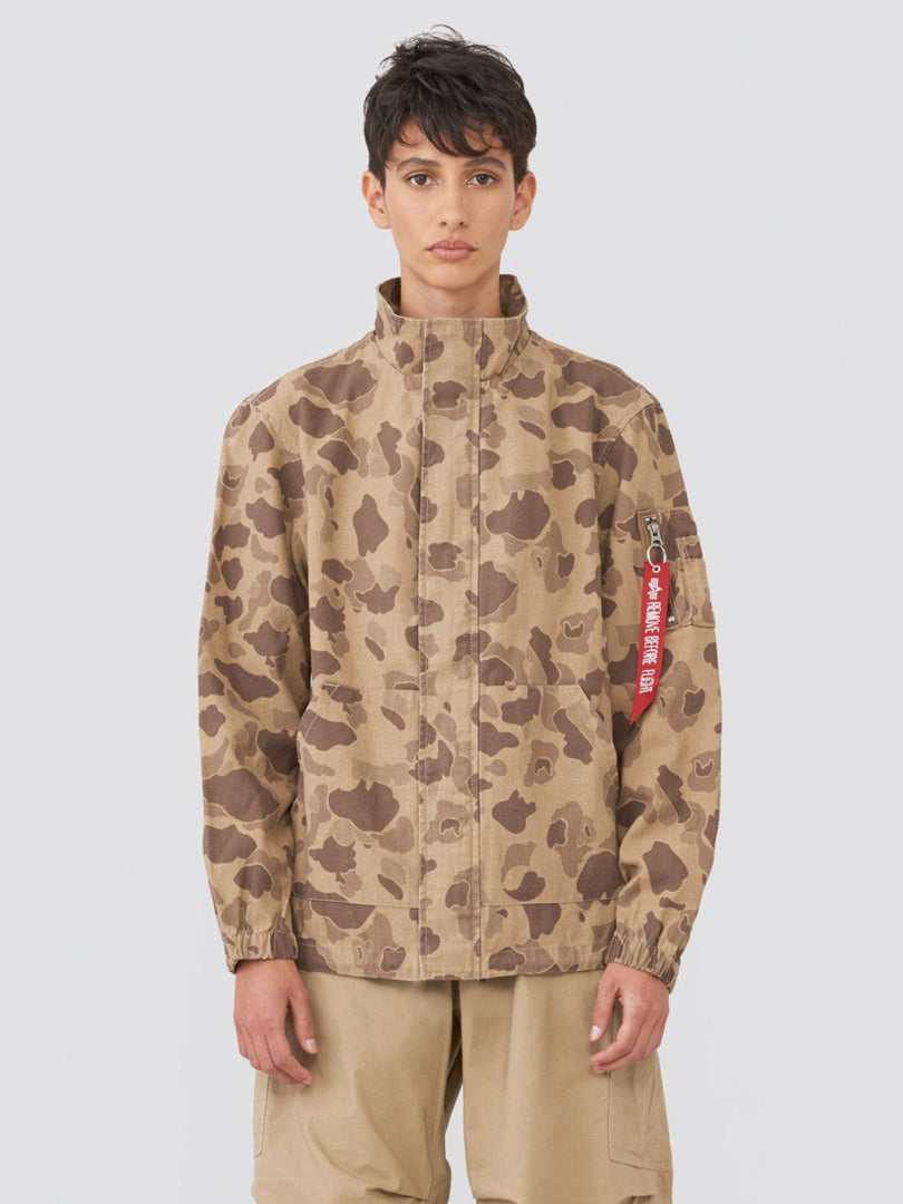 G.I. FIELD COAT W SALE Alpha Industries BROWN FROGSKIN CAMO L