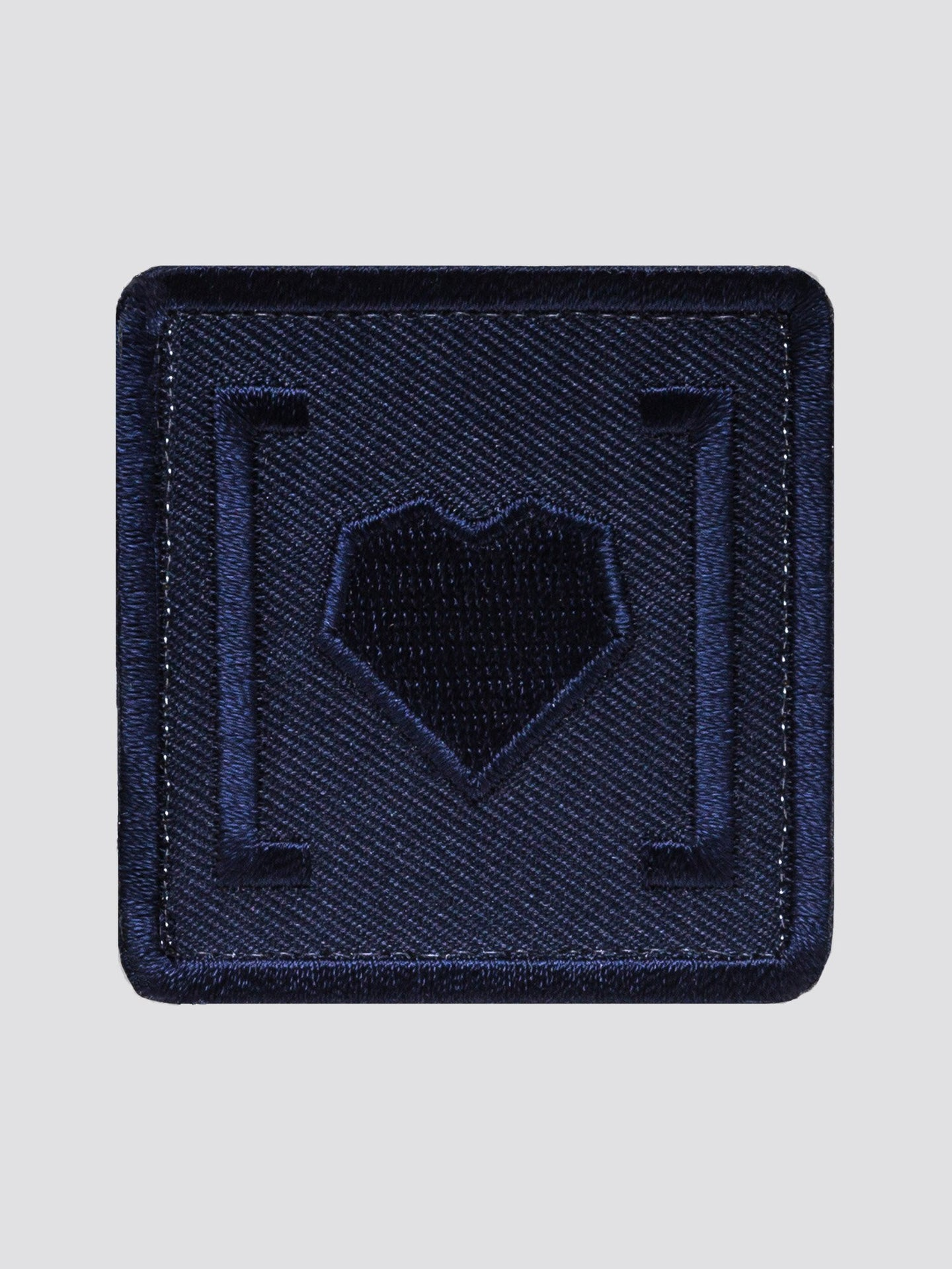 HAS HEART LARGE ICON PATCH ACCESSORY Alpha Industries NAVY O/S