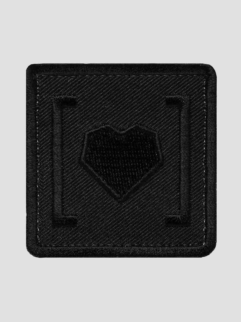 HAS HEART SMALL ICON PATCH ACCESSORY Alpha Industries BLACK O/S