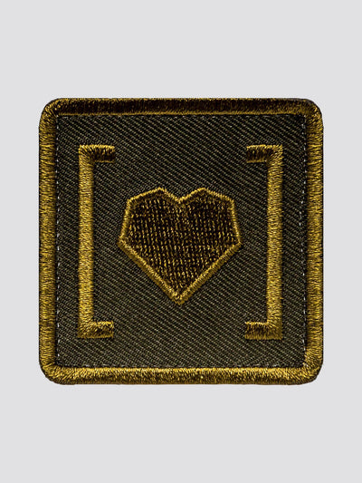 HAS HEART SMALL ICON PATCH ACCESSORY Alpha Industries GREEN O/S