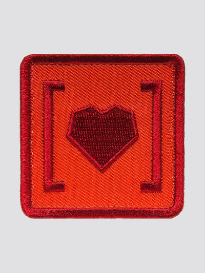 HAS HEART SMALL ICON PATCH ACCESSORY Alpha Industries RED O/S
