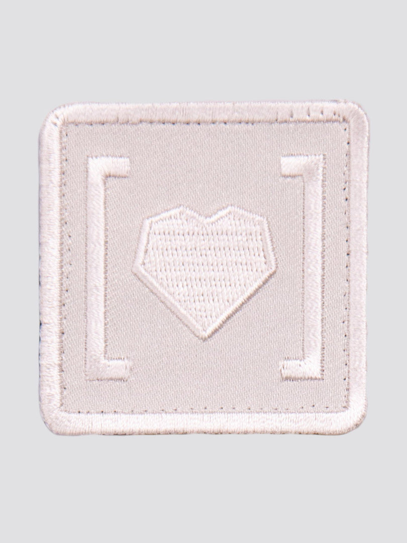 HAS HEART SMALL ICON PATCH ACCESSORY Alpha Industries WHITE O/S