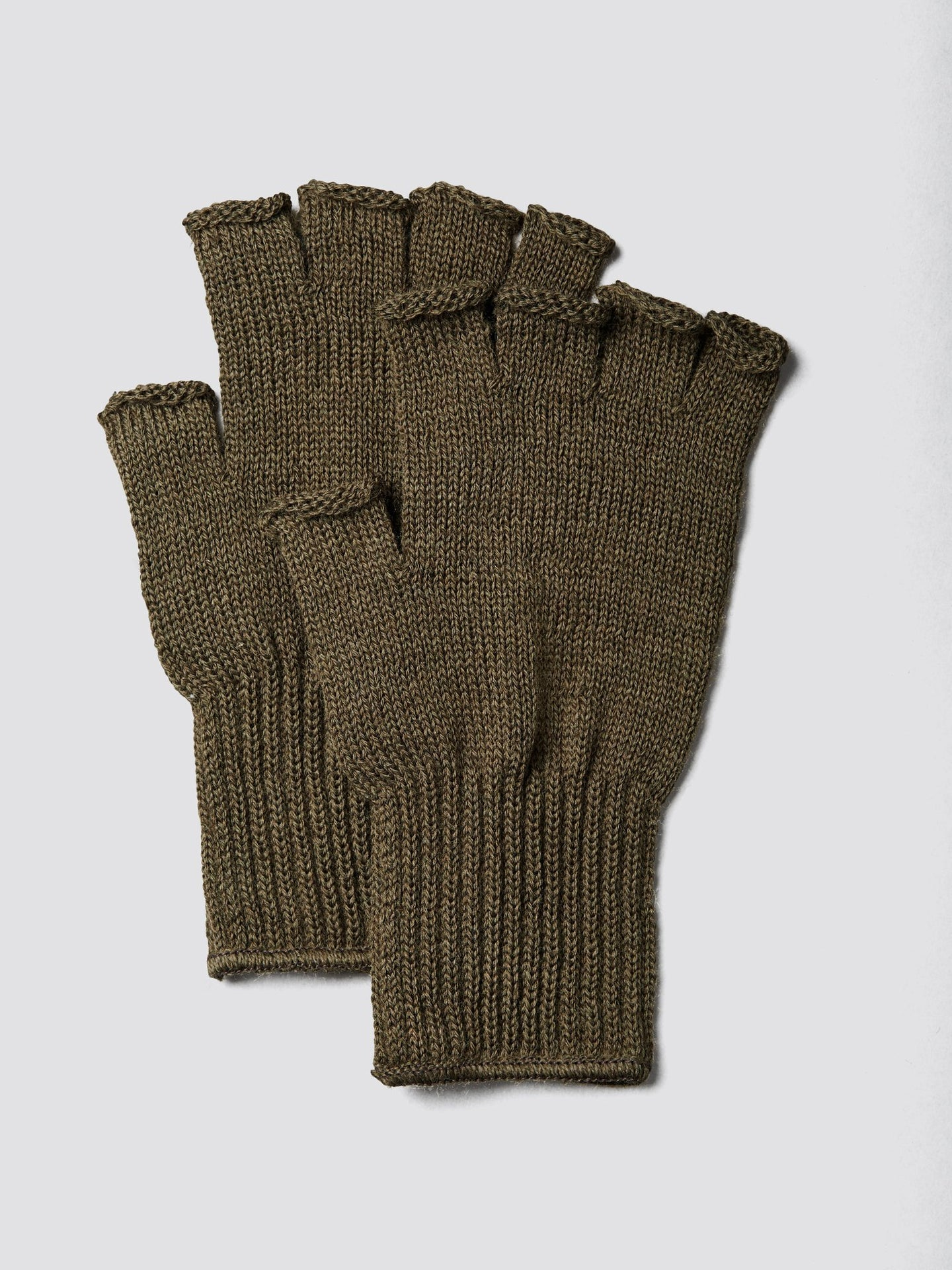KNIT WOOL FINGERLESS GLOVES ACCESSORY Alpha Industries, Inc. OLIVE DRAB O/S