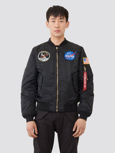 L-2B APOLLO BOMBER JACKET OUTERWEAR Alpha Industries BLACK/RED LINING 2XL