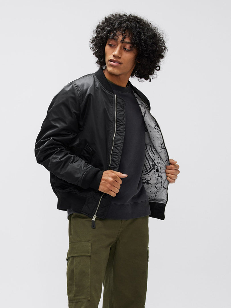 L-2B APOLLO II BOMBER JACKET OUTERWEAR Alpha Industries, Inc. BLACK XXS