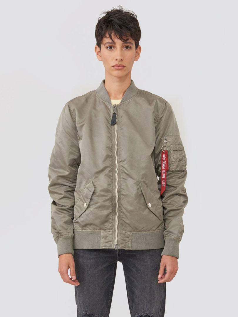 L-2B BATTLEWASH BOMBER JACKET W SALE Alpha Industries VINTAGE WHITE L