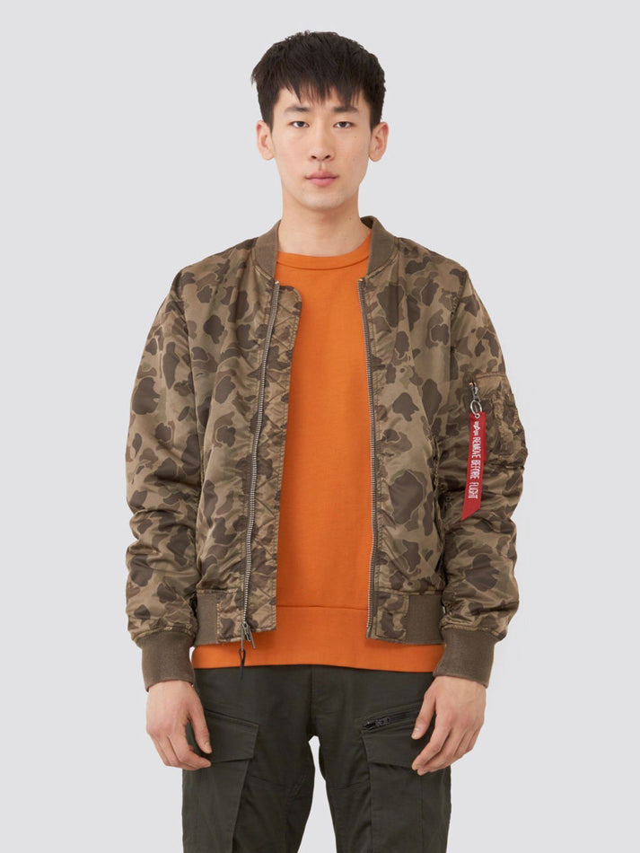 L-2B BLOOD CHIT BATTLEWASH BOMBER JACKET OUTERWEAR Alpha Industries BROWN FROGSKIN CAMO 2XL