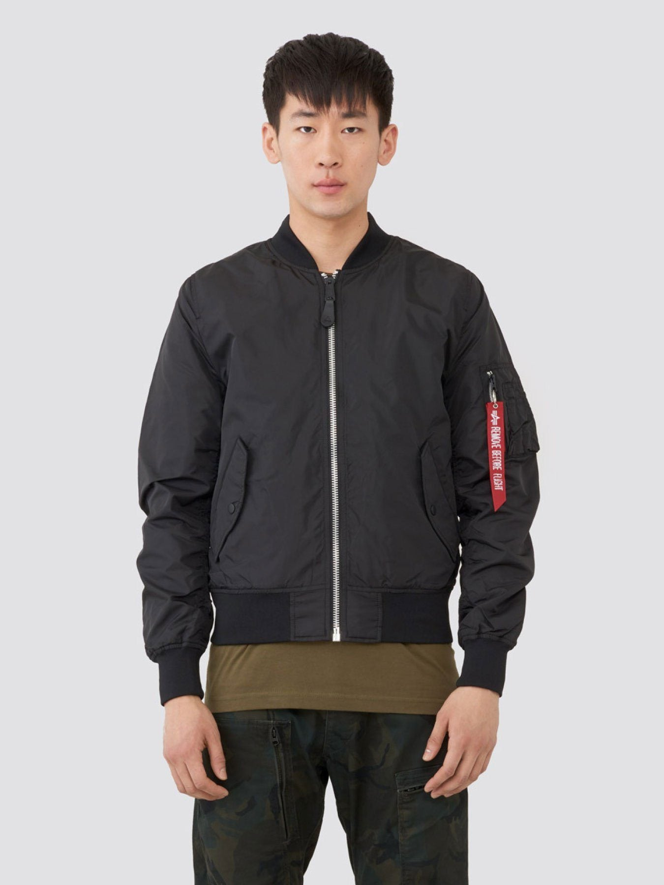 L-2B DRAGONFLY BLOOD CHIT BOMBER JACKET OUTERWEAR Alpha Industries BLACK 2XL