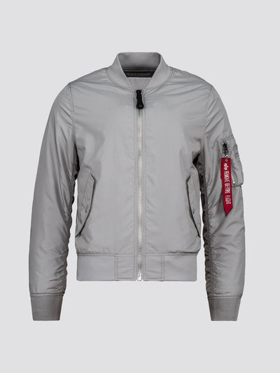 L-2B DRAGONFLY BLOOD CHIT BOMBER JACKET OUTERWEAR Alpha Industries NEW SILVER 2XL