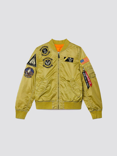 L-2B FEAR THE BONES BATTLEWASH BOMBER JACKET OUTERWEAR Alpha Industries, Inc.