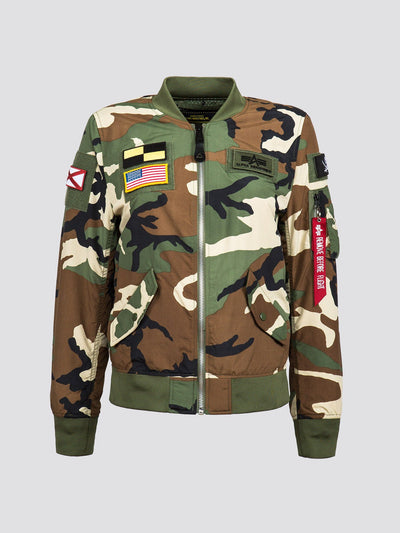 L-2B FLEX W FLIGHT JACKET SALE Alpha Industries LIGHT WOODLAND CAMO L