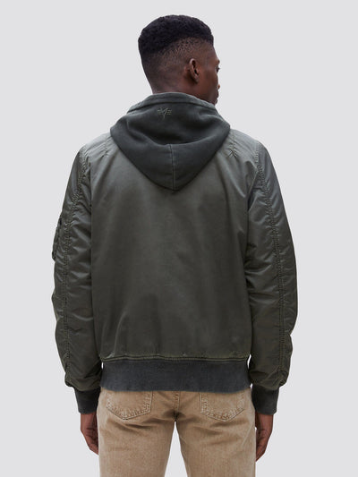 L-2B HOODED BATTLEWASH BOMBER JACKET SALE Alpha Industries