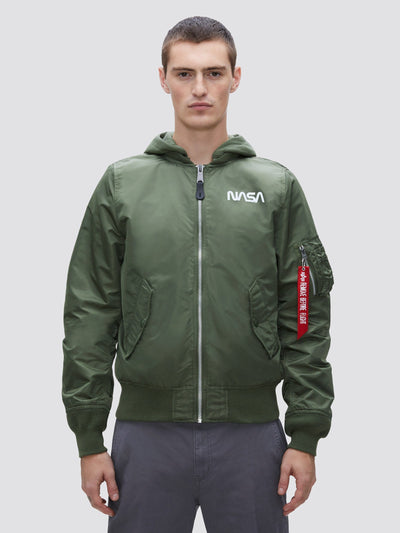 L-2B HOODED NASA II BOMBER JACKET (SEASONAL) SALE Alpha Industries, Inc. SAGE XS