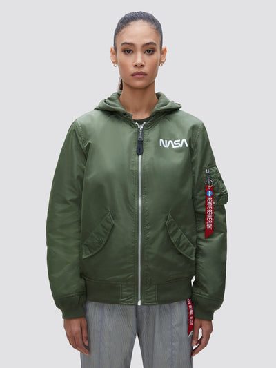 L-2B HOODED NASA II BOMBER JACKET W (SEASONAL) SALE Alpha Industries, Inc. SAGE XS