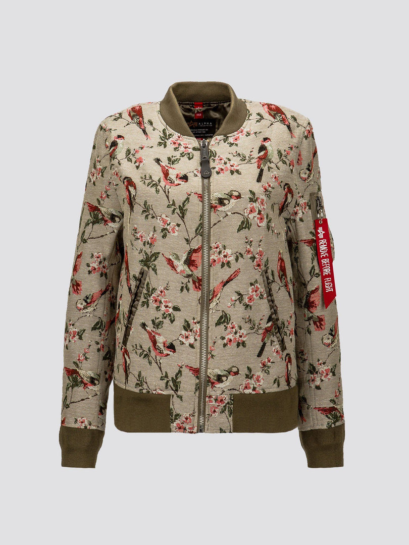 L-2B JACQUARD FLIGHT JACKET W SALE Alpha Industries FLORAL JAQUARD L