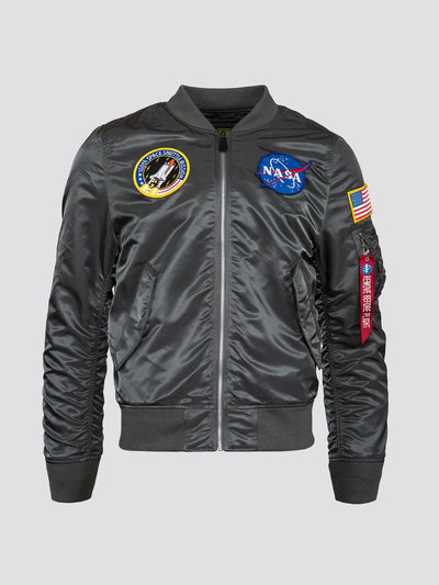 L-2B NASA MEN'S BOMBER JACKET OUTERWEAR Alpha Industries GUNMETAL 2XL