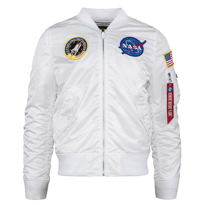 L-2B NASA MEN'S BOMBER JACKET OUTERWEAR Alpha Industries WHITE 2XL