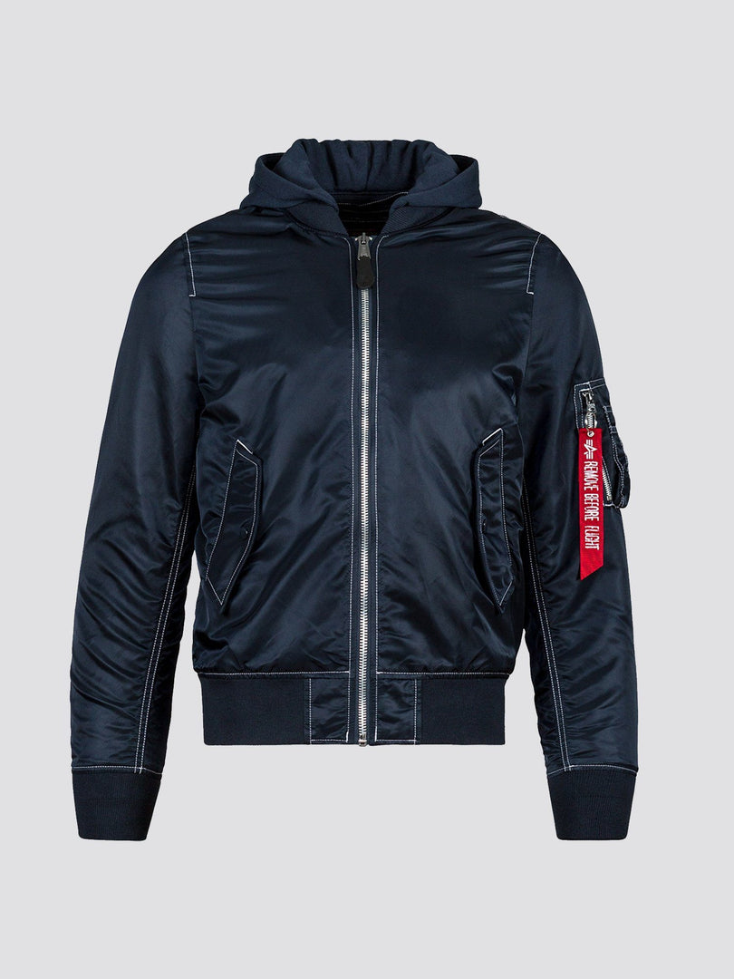L-2B NATUS FLIGHT JACKET (SEASONAL) SALE Alpha Industries REPLICA BLUE/WHITE STITCHING XS
