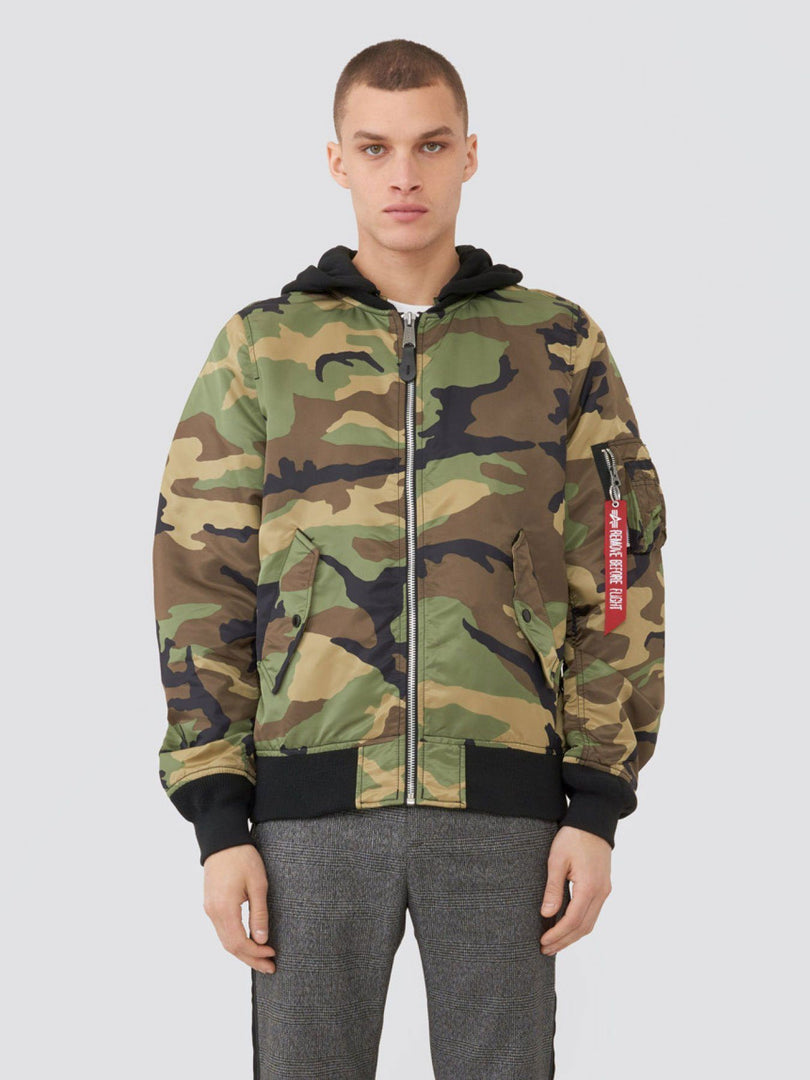 L-2B NATUS FLIGHT JACKET (SEASONAL) SALE Alpha Industries WOODLAND CAMO XS