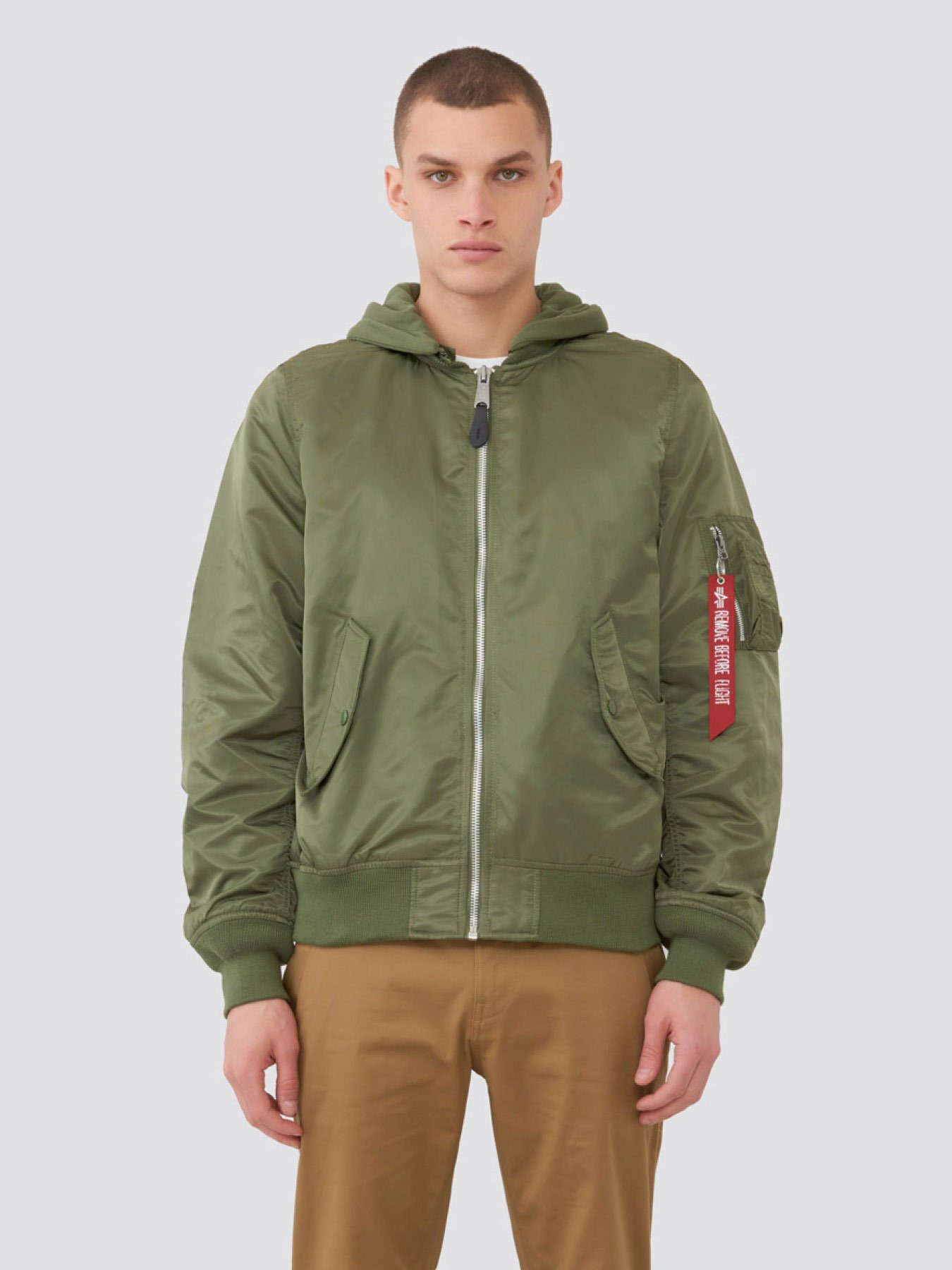 L-2B NATUS MEN'S BOMBER JACKET OUTERWEAR Alpha Industries SAGE 2XL